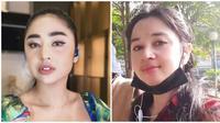 Potret wanita yang disebut mirip Dewi Persik, viral di TikTok. (Sumber: Instagram/@dewiperssikreal/TikTok/@sarkiemmkaohsiung)