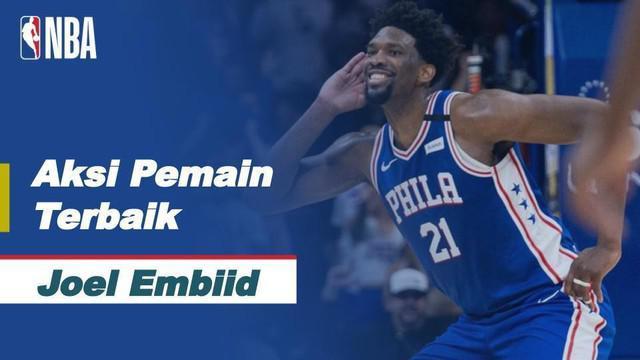 Berita video aksi-aksi terbaik bintang Philadelphia 76ers, Joel Embiid, yang mencetak 50 poin saat timnya mengalahkan Chicago Bulls di NBA hari ini, Sabtu (20/2/2021) pagi hari WIB.