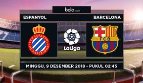 Jadwal La Liga 2018-2019 pekan ke-15, Espanyol vs Barcelona. (Bola.com/Dody Iryawan)