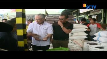 Operasi pasar yang menggunakan beras cadangan pemerintah ini digelar karena terjadi kelangkaan beras medium di pasaran.