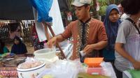 Laksa, salah satu kuliner Palembang yang dijajakan untuk menu berbuka puasa (Liputan6.com / Nefri Inge)
