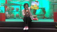 Menteri Keungan Sri Mulyani mendongeng untuk 300 anak yang hadir dalam acara penggalangan dana bertajuk 'Indonesia Negeri 1.000 Dongeng' di Kementrian Pendidikan dan Budaya, Jakarta, Minggu (3/3/2019).