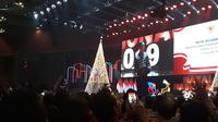 Presiden Jokowi menghadiri perayaan Natal  di Sentul International Convention Center (SICC), Bogor, Jawa Barat. (Liputan6.com/Agustina Melani)