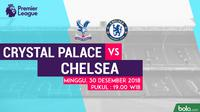 Jadwal Premier League 2018-2019 pekan ke-20, Crystal Palace vs Chelsea. (Bola.com/Dody Iryawan)