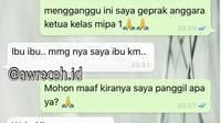 Chat Kocak Guru dan Murid Ini Bikin Tepuk Jidat (sumber:Instagram/awreceh.id)