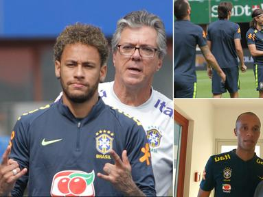 Jurnalis Bola.com, Reza Khomaini, berkesempatan meliput latihan timnas Brasil di Stadion Ernst Happel, Wina. Latihan ini merupakan persiapan jelang laga ujicoba melawan Austria. (Kolase foto-foto Reza Khomaini)