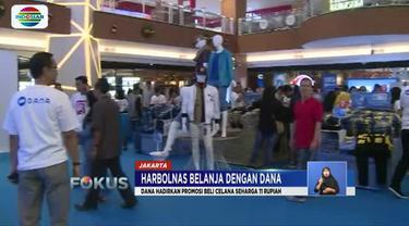 DANA hadirkan promosi beli celana murah seharga Rp 11 di Ramayana City Plaza, Jatinegara, Jakarta Timur.