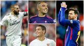 Berikut ini daftar top scorer La Liga 2019. Bintang Barcelona, Lionel Messi di posisi pertama dengan koleksi 36 gol, sementara mesin gol Real Madrid, Karim Benzema, berada di posisi ke dua dengan 21 gol. (Foto Kolase AP dan AFP)