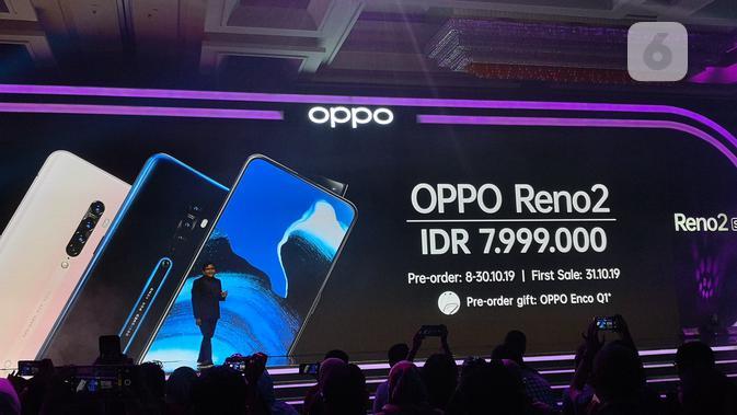 Oppo Reno 2 resmi diumumkan. (Liputan6.com/ Agustinus Mario Damar)