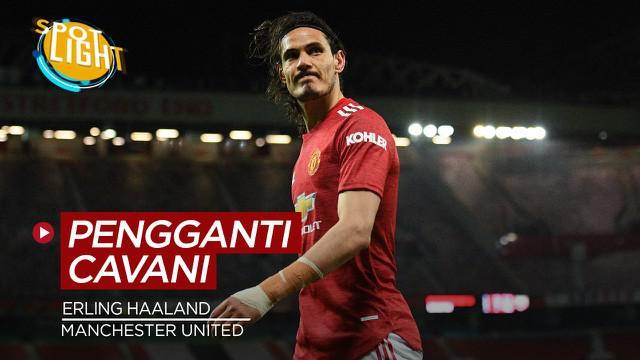 Berita video spotlight yang membahas tentang deretan pemain pengganti Edinson Cavani di Manchester United.
