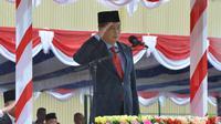 Menteri ESDM Ignasius Jonan memimpin upacara peringatan Hari Ulang Tahun (HUT) Kemerdekaan Republik Indonesia ke-74 di area PT Freeport Indonesia (PTFI), Sabtu (17/08/2019).