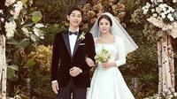 Pasca menikah Song Hye Kyo dan Song Joong Ki belum memutuskan proyek barunya. Tampaknya pasangan ini masih ingin menikmati masa bulan madu. (Foto: instagram.com/kyo1122)