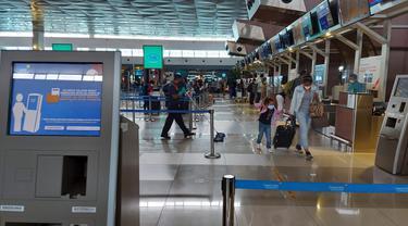 Bandara Soekarno Hatta saat ada larangan mudik lebaran 2021.