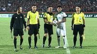 Striker Timnas Indonesia U-16, Amiruddin Bagus Kahfi Alfikri (kedua dari kanan) masih memimpin daftar top scorer Piala AFF U-16 2018. (Twitter/ASEAN Football)