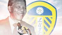 Leeds - Lucas Radebe dan Nelson Mandela (Bola.com/Adreanus Titus)