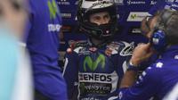 Pebalap Movistar Yamaha, Jorge Lorenzo, meraih hasil buruk dengan finis di posisi ke-15 pada balapan MotoGP Jerman di Sirkuit Sachsenring, Minggu (17/7/2016). (Fox Sports Asia)