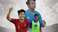Timnas Indonesia - Witan Sulaeman, Saddam Gaffar, Muhammad Supriadi (Bola.com/Adreanus Titus)