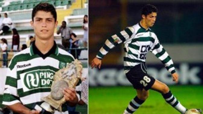 Cristiano Ronaldo kala masih membela Sporting CP. (Foto: Istimewa)