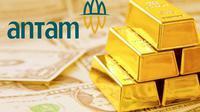 Pendapatan Antam dari Emas di FY17 Sebesar Rp 7,37 Triliun.