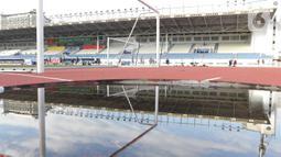 Kondisi Stadion Rizal Memorial di Manila, Filipina, Senin (25/11/2019). Stadion ini akan menjadi venue cabang sepak bola SEA Games 2019. (Bola.com/M Iqbal Ichsan)