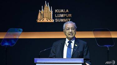 PM Mahathir Mohamad dalam KTT Islam di Kuala Lumpur Summit 2019.