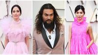 Busana pink para selebritas di karpet merah Oscar 2019 di Hollywood, California, Amerika Serikat, 24 Februari 2019. (FRAZER HARRISON / GETTY IMAGES NORTH AMERICA/MARK RALSTON/FRAZER HARRISON / GETTY IMAGES NORTH AMERICA / AFP)