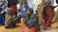Sejumlah warga Ethiopia yang terdampak kekeringan (AP Photo/Elias Meseret)