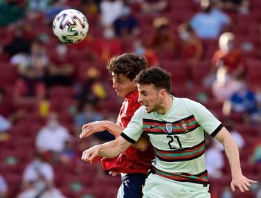Foto Piala Eropa: Hasil Kacamata, Duel Imbang Spanyol dan Portugal dalam Uji Coba Pertandingan Menjelang Euro 2020