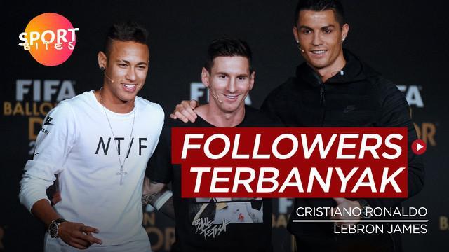 Berita video sportbites kali ini membahas tentang deretan atlet dunia dengan jumlah pengikut terbanyak di Instagram, Cristiano Ronaldo dan LeBron James jadi masuk daftar tersebut.