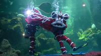 Taman Impian Jaya Ancol akan meriahkan Imlek dengan atraksi barongsai di dalam air yang akan berlangsung di Sea World (dok.Taman Impian Jaya Ancol)