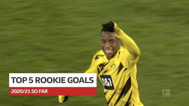 Berita video 5 gol terbaik dari pemain rookie di Bundesliga 2020/2021, termasuk torehan wonderkid Borussia Dortmund, Youssoufa Moukoko.