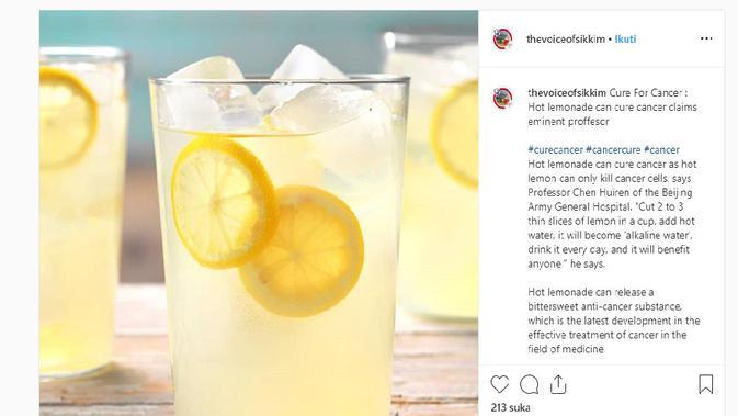 Cek Fakta - Klaim obat kanker alternatif (Instagram)