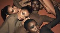 Laras Sekar (kiri atas) hiasi iklan kosmetik Kim Kardashian (Sumber: Instagram/kimkardashian)