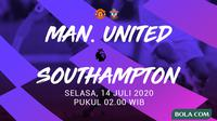 Premier League - Manchester United Vs Southampton (Bola.com/Adreanus Titus)