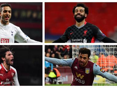 Premier League adalah magnet para pemain di benua manapun untuk bersaing menjadi yang terbaik. Tak terkecuali bagi pemain asal Afrika seperti Mesir. Berikut 5 pesepakbola asal Mesir yang pernah dan masih berlaga di kasta tertinggi sepakbola Inggris, Premier League. (Kolase Foto AFP dan AP)
