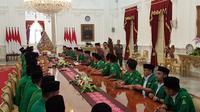 Pertemuan Presiden Jokowi dan GP Ansor, Jumat (11/1/2019). (Liputan6.com/Lizsa Egeham)