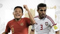 Indonesia vs Uni Emirat Arab: Evan Dimas vs Walid Abbas. (Bola.com/Dody Iryawan)