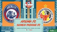 Shopee Liga 1 - Arema FC Vs Semen Padang FC (Bola.com/Adreanus Titus)
