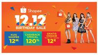 "Pesta belanja online ""Shopee 12.12 Birthday Sale""."
