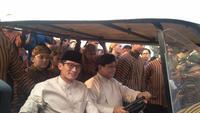 Pasangan calon presiden dan wakil presiden Prabowo Subianto-Sandiaga Uno mengikuti deklarasi kampanye damai. (Merdeka.com/Muhammad Genantan Saputra).