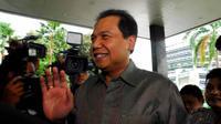 Pengusaha di bidang media ini enggan berkomentar lebih banyak kepada awak media tentang agendanya mendatangi markas Abraham cs tersebut, Jakarta, Rabu (28/5/14). (Liputan6.com/Miftahul Hayat)