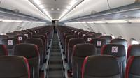 KOnfigurasi kursi penumpang di Lion Air Group untuk menjaga jarak aman. (dok. Lion Air Group/Dinny Mutiah)