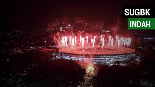 Berita video momen keindahan SUGBK (Stadion Utama Gelora Bung Karno), Senayan, yang gemerlap pada saat pembukaan Asian Games 2018, Sabtu (18/8/2018).