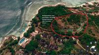 Penampakan genangan air di Tanjung Lesung pasca hantaman tsunami Anyer, Minggu 23 Desember 2018 (Liputan6.com/Google Earth)