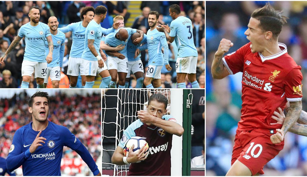 Berikut ini tujuh selebrasi terbaik yang menghiasi laga Premier League 2017/2018 Pekan ke-5. Mulai dari selebrasi Alvaro Morata, Philipe Coutinho hingga para Pemain Manchester City. (Kolase Foto-foto dari AFP)