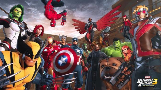 Siap pilih karakter Marvel favorit kamu untuk melawan Thanos di dalam gim Marvel Ultimate Alliance 3: The Black Order. (Doc: Marvel)