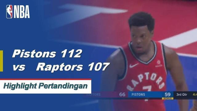 Blake Griffin skor 27 sebagai Pistons mendapatkan kemenangan atas Raptors 112-107 di lembur