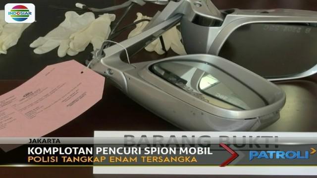 Kawanan Pencuri Spion Mobil Berhasil Dibekuk Aparat di Slipi (Patroli Siang