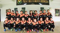 Indonesia kalah dari India pada babak penyisihan Grup 1D Piala Sudirman 2017 di Carrara Indoor Sports Stadium, Gold Coast, Australia, Selasa (22/5/2017). Indonesia sementara tertinggal 1-3. (Liputan6.com/Humas PP PBSI)