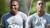 Dua pemain Manchester United, Antonio Valencia dan Anthony Martial. (dok. Manchester United)